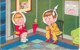 In De Wachtkamer Bij De Tandarts Gelopen 28-5-1931 - Humorkaarten