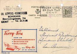 Publibel 1295 - Terry-Fox - Gent - La Bouverie - 10 Mai 1955. - Publibels
