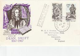 IRELAND 1967  DEAN SWIFT SET FDC - 1949-... Repubblica D'Irlanda