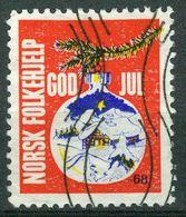 Vi Vignette Norway 1968 | Christmas Norwegian People's Aid, God Jul Norsk Folkehjelp - Erinofilia