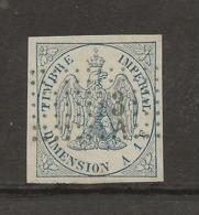 """FISCAUX FRANCE ALGERIE DIMENSION N°2A 1F BLEU OBLITERE 3A 'ALGER"""" - Revenue Stamps"""