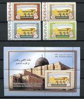 PALESTINE PALESTINIAN AUTHORITY 2010 AQSA & QUDS IN MUSLIMS HEARTS MNH JERUSALEM MOSQUE ISLAMIC SET + SS - Palestina