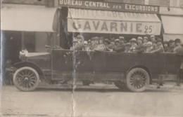 Photographie - Carte-photo - Automobile Autobus Excursion Grottes De Betharram Gavarnie - Photographs