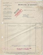Document Commercial Facture 62 Biache Saint Vaast   Et Paris Socite Des Fonderies,laminoirs  Annee 1953 - Old Professions