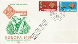 IRELAND 1968 EUROPA SET FDC - Lettres & Documents