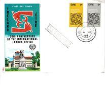 IRELAND 1969 I.L.O. SET FDC - Lettres & Documents