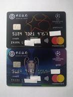 China, Football, UEFA Champions League,  (2pcs) - Carte Di Credito (scadenza Min. 10 Anni)