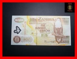 ZAMBIA 500 Kwacha  2003  P. 43 A  Prefix DA Serial Wears Off  Error Polymer  AU - Zambia