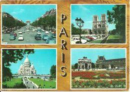 Paris (Parigi, France) Vues: Champs Elysées Et Arc De Triomphe De L'Etoile, Notre Dame, Sacré Coeur, Arc Du Carrousel - France