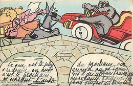 Themes Div-ref EE957 -illustrateurs -illustrateur -voiture Automobile Et L Ane - Les Recalcitrants Embarassés - - Illustrateurs & Photographes