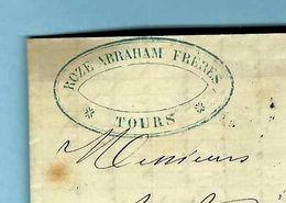 HISTOIRE DE LA SOIE / SOIERIE à TOURS  INDRE ET LOIRE  ROZE ABRAHAM FRERES Tours  SOYEUX  Pour Cognac Texte Sur Coloris - France