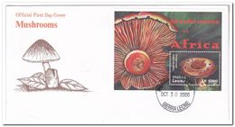 Sierra Leone 2000, FDC, Mushrooms - Sierra Leone (1961-...)