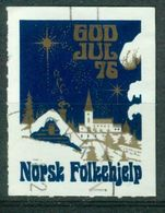 Vi Vignette Norway 1976 | Christmas Norwegian People's Aid, God Jul Norsk Folkehjelp - Erinofilia