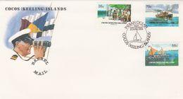 COCOS KEELING ISLANDS 1984 BARREL MAIL SET FDC - Cocos (Keeling) Islands