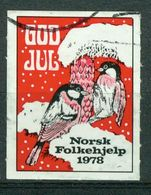 Vi Vignette Norway 1978 | Christmas Norwegian People's Aid, God Jul Norsk Folkehjelp - Erinofilia