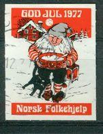 Vi Vignette Norway 1977 | Christmas Norwegian People's Aid, God Jul Norsk Folkehjelp - Erinofilia