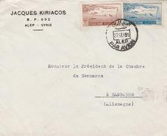 Syrie Lettre Pour L'Allemagne 1951 - Siria