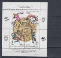 Argentinien Michel Cat.No. Mnh/** Sheet 47 Olympia - Blocks & Sheetlets