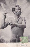 Nouvelle-Calédonie - Canaque De Koumac Avec Son Casse-tête Voyagée 1908 Raché éditeur Nouméa - Nouvelle-Calédonie