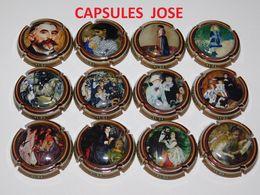 Série De 12 Capsules De Champagne - GENERIQUE (Les Tableaux De Renoir) - Collections