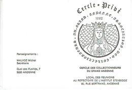 ANDENNE 1982 CERCLE DES COLLECTIONNEURS DU GRAND ANDENNE - Beursen Voor Verzamellars