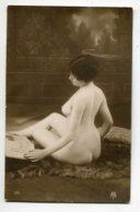 NU French Charm 067  Edit VB Série 196 Etude Dos Reins Fesses Jeune Femme Nue Assise Peau Bete   EROTISME - Fine Nudes (adults < 1960)