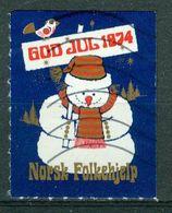 Vi Vignette Norway 1974 | Christmas Norwegian People's Aid, God Jul Norsk Folkehjelp - Erinofilia