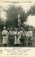CARTE POSTALE FRANÇAISE - DRAPEAU DU 350e RI - SENLIS - PERNANT - MOULIN SOUS TOUVENT - TILOLLOY - GUERRE 1914 1918 - 1914-18