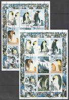 X155 1998 DU NIGER FAUNA BIRDS PENGUINS 2SH USED - Pingouins & Manchots