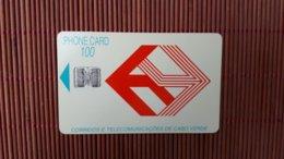 Phonecard Cabo Verde 100 Units Control C3C043255  Used Rare - Kaapverdische Eilanden