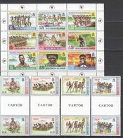 X162 !!! GUTTER PAIRS SOLOMON ISLANDS ART MELANESIAN TRADE & CULTURE SHOW TRADITIONS 2SET+1KB MNH - Kulturen