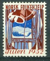 Vi Vignette Norway 1952 | Christmas Norwegian People's Aid, Julen Norsk Folkehjelp - Erinofilia