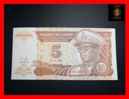 ZAIRE 5 N. Zaires  24.6.1993  P. 53 A  UNC - Zaire