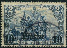 1906, 10 Piaster Auf 2 Mark Gestempelt Mit Wz, Geprüft - Ufficio: Turchia