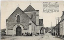 D37 - BARROU - L'EGLISE -Plusieurs Personnes Et Enfants - DEUX EGLISES A BARROU ONT ETE DETRUITES PAR LES EBOULEMENTS .. - Other Municipalities