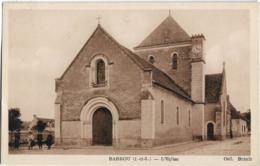 D37 - BARROU - L'EGLISE - 3 Jeunes Filles Et 1 Cycliste Sur Le Côté De L'église - Other Municipalities