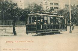 Hongkong  The Electric Tram Car Tramway Edit Ribeiro  Undivided Back  Hindu Onboard - China (Hong Kong)