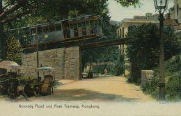 Hongkong  Kennedy Road And Peak Tramway Tram  Edit Sternberg Hand Colored - China (Hong Kong)
