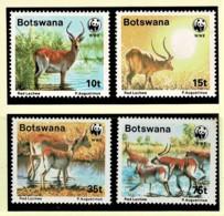 Botswana 1988 Red Lechwe WWF Set Of 4 MNH - Botswana (1966-...)