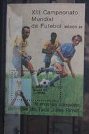 Fußball, Blockausgabe: Brasilien, Ungebraucht - Fußball-Weltmeisterschaft