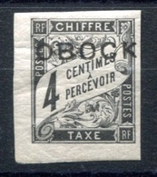 RC 17678 OBOCK COTE 47€ N° 8 TAXE TYPE DUVAL SURCHARGÉ NEUF * MH  ( VOIR DESCRIPTION ) - Obock (1892-1899)