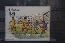 Fußball, Blockausgabe: Ghana, Ungebraucht - Fußball-Weltmeisterschaft