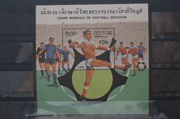 Fußball, Blockausgabe: Laos, Ungebraucht - Fußball-Weltmeisterschaft