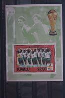 Fußball, Blockausgabe: Tuvalu, Ungebraucht - Fußball-Weltmeisterschaft