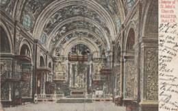Malta - Valletta - Interior Of St. John's Church - Malta