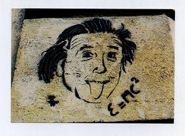 CP Neuve. Tag Pochoir Graffiti Street Art. Albert Einstein. Prix Nobel De Physique En 1921. Langue Tongue. E=mC² - Premi Nobel