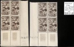 [847525]TB//**/Mnh-France 1949 - PA24, Lille, Bd4, Cdf Dont 1 Daté, 29.12.51, Papier-nuance - Poste Aérienne