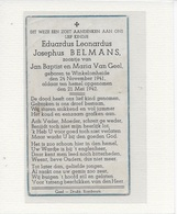17- KIND-EDUARDUS BELMANS-VAN GEEL-WINKELOMHEIDE - Images Religieuses