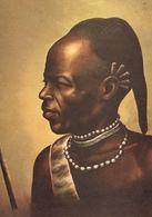 Kikuyu Dancer Antique Kenya Uganda Tanzania Oil Painting Postcard - Ouganda