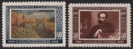 Russia / Sowjetunion 1950 - Mi-Nr. 1525-1526 ** - MNH - Lewitan - 1923-1991 USSR